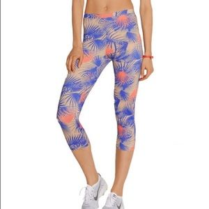 Live The Process Tropical Palms Cropped Legging Sm